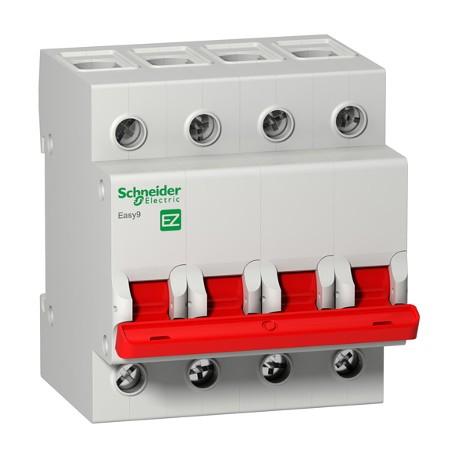 Выключатель (рубильник) Schneider Electric EASY9 4P 100А