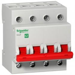Выключатель (рубильник) Schneider Electric EASY9 4P 125А