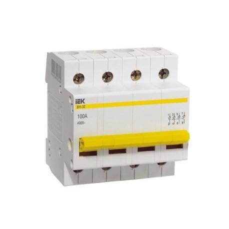 Выключатель (рубильник) IEK ВН-32 4P 100А