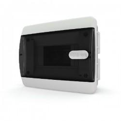 Бокc Tekfor на 6 модулей встраиваемый IP41 прозрачная черная дверца