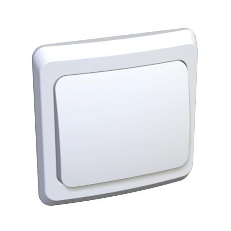 Schneider Electric Переключатель одноклавишный белый Этюд