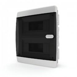 Бокc Tekfor на 18 модулей встраиваемый IP41 прозрачная черная дверца