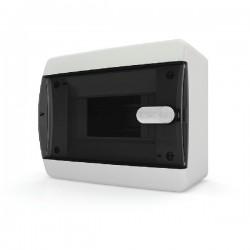 Бокc Tekfor на 6 модулей навесной IP41 прозрачная черная дверца
