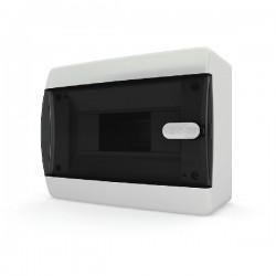 Бокc Tekfor на 8 модулей навесной IP41 прозрачная черная дверца