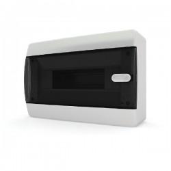 Бокc Tekfor на 12 модулей навесной IP41 прозрачная черная дверца