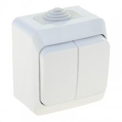 Schneider Electric Выключатель двухклавишный IP44 белый Этюд