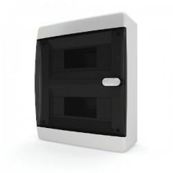 Бокc Tekfor на 18 модулей навесной IP41 прозрачная черная дверца