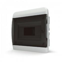 Бокc Tekfor на 8 модулей встраиваемый IP41 прозрачная черная дверца