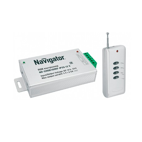 Navigator Контроллер ND-CRGB180RF-IP20-12V