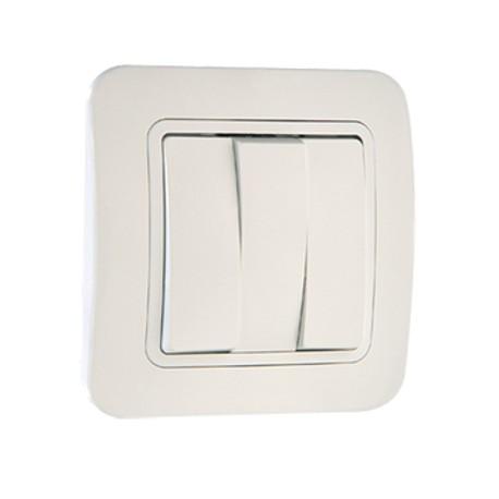 Makel Выключатель трехклавишный белый Lillium