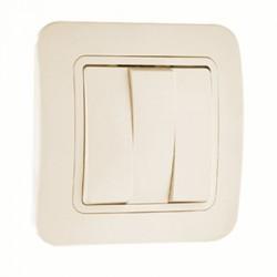 Makel Выключатель трехклавишный кремовый Lillium