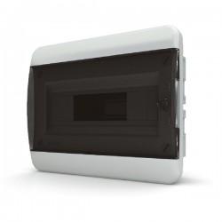 Бокc Tekfor на 12 модулей встраиваемый IP41 прозрачная черная дверца