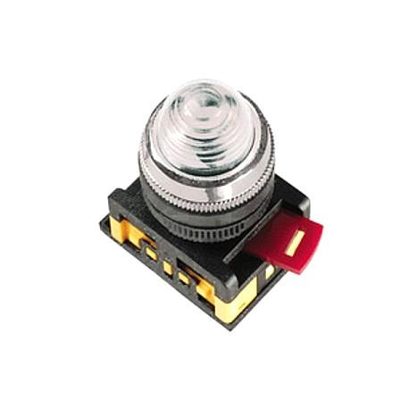 Кнопка IEK ABLFP-22 прозрачный d22 мм 230 В 1з+1р