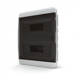 Бокc Tekfor на 24 модуля встраиваемый IP41 прозрачная черная дверца