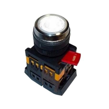 Кнопка IEK ABLF-22 прозрачный d22 мм 230 В 1з+1р