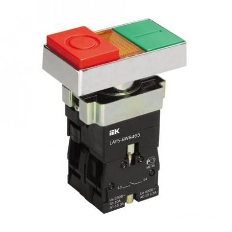 Кнопка IEK LAY5-BW8465 «I-О» сдвоенная без подсветки