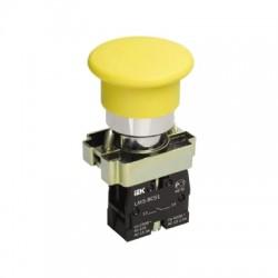 Кнопка IEK LAY5-BC51 «Грибок» желтый без подсветки 1з