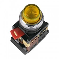 Кнопка ABLFP-22 желтый d22 мм 230В 1з+1р