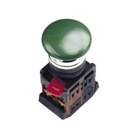 Кнопка IEK AEA-22 «Грибок» зеленый d22 мм 1з+1р