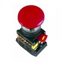 Кнопка IEK AEA-22 «Грибок» красный d22 мм 1з+1р