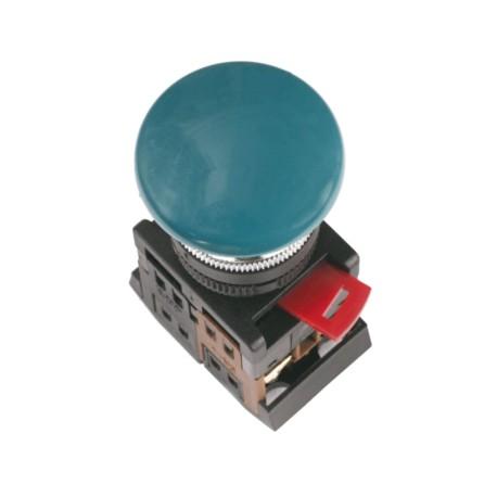 Кнопка IEK AEA-22 «Грибок» синий d22 мм 1з+1р