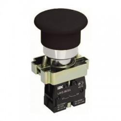 Кнопка IEK LAY5-BC21 «Грибок» черный без подсветки 1з