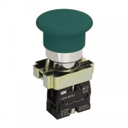 Кнопка IEK LAY5-BC31 «Грибок» зеленый без подсветки 1з