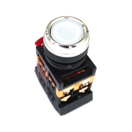 Кнопка IEK ABLFS-22 белый d22 мм 230В 1з+1р