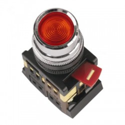 Кнопка IEK ABLFS-22 красный d22 мм 230В 1з+1р