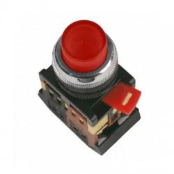 Кнопка IEK ABLFP-22 красный d22 мм 230В 1з+1р