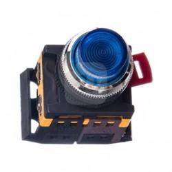 Кнопка IEK ABLFP-22 синий d22 мм 230В 1з+1р