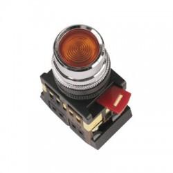 Кнопка IEK ABLF-22 красный d22 мм 230В 1з+1р