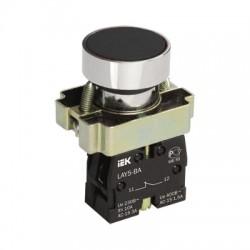 Кнопка IEK LAY5-BA21 черный без подсветки 1з