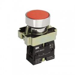 Кнопка IEK LAY5-BA42 красный без подсветки 1р