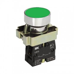 Кнопка IEK LAY5-BA31 зеленый без подсветки 1з