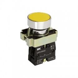 Кнопка IEK LAY5-BA51 желтый без подсветки 1з