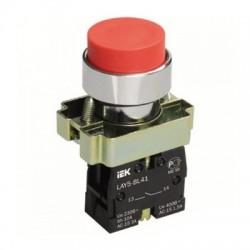 Кнопка IEK LAY5-BL41 красный без подсветки 1з