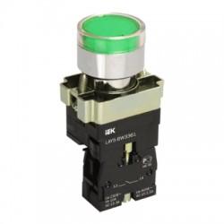 Кнопка IEK LAY5-BW3361 зеленый с подсветкой 1з