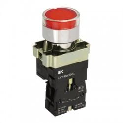 Кнопка IEK LAY5-BW3461 красный с подсветкой 1з