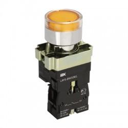 Кнопка IEK LAY5-BW3561 желтый с подсветкой 1з