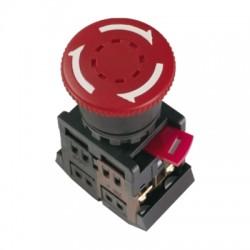 Кнопка IEK AE-22 «Грибок» с фиксацией d22 мм 230В 1з+1р