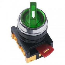 Переключатель IEK ANC-22-2 зеленый 2 положения 230В I-O 1з+1р