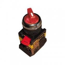 Переключатель IEK ANC-22-2 красный 2 положения 230В I-O 1з+1р