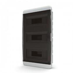 Бокc Tekfor на 36 модулей встраиваемый IP41 прозрачная черная дверца