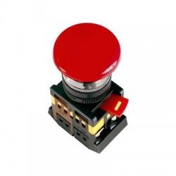 Кнопка IEK AEAL-22 «Грибок» красный с фиксацией d22 мм 230В 1з+1р