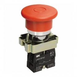 Кнопка IEK LAY5-BT42 «Грибок» аварийная с фиксацией красный