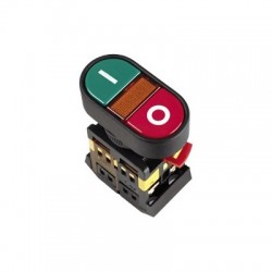 Кнопка IEK APВВ-22N «I-O» d22 мм 230В 1з+1р