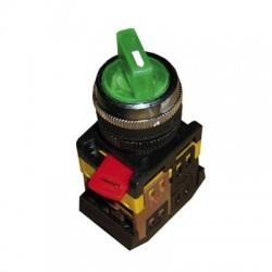 Переключатель IEK ANCLR-22-3 зеленый на 3 положения 230В I-O-II 1з+1р