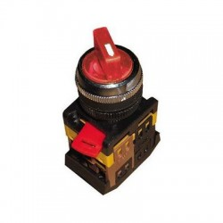 Переключатель IEK ANCLR-22-3 красный на 3 положения 230В I-O-II 1з+1р