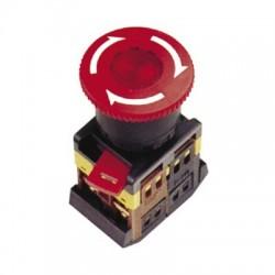 Кнопка IEK ANE-22 «Грибок» с фиксацией d22мм 230В 1з+1р